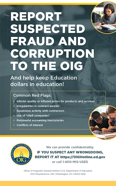 Report fraud poster